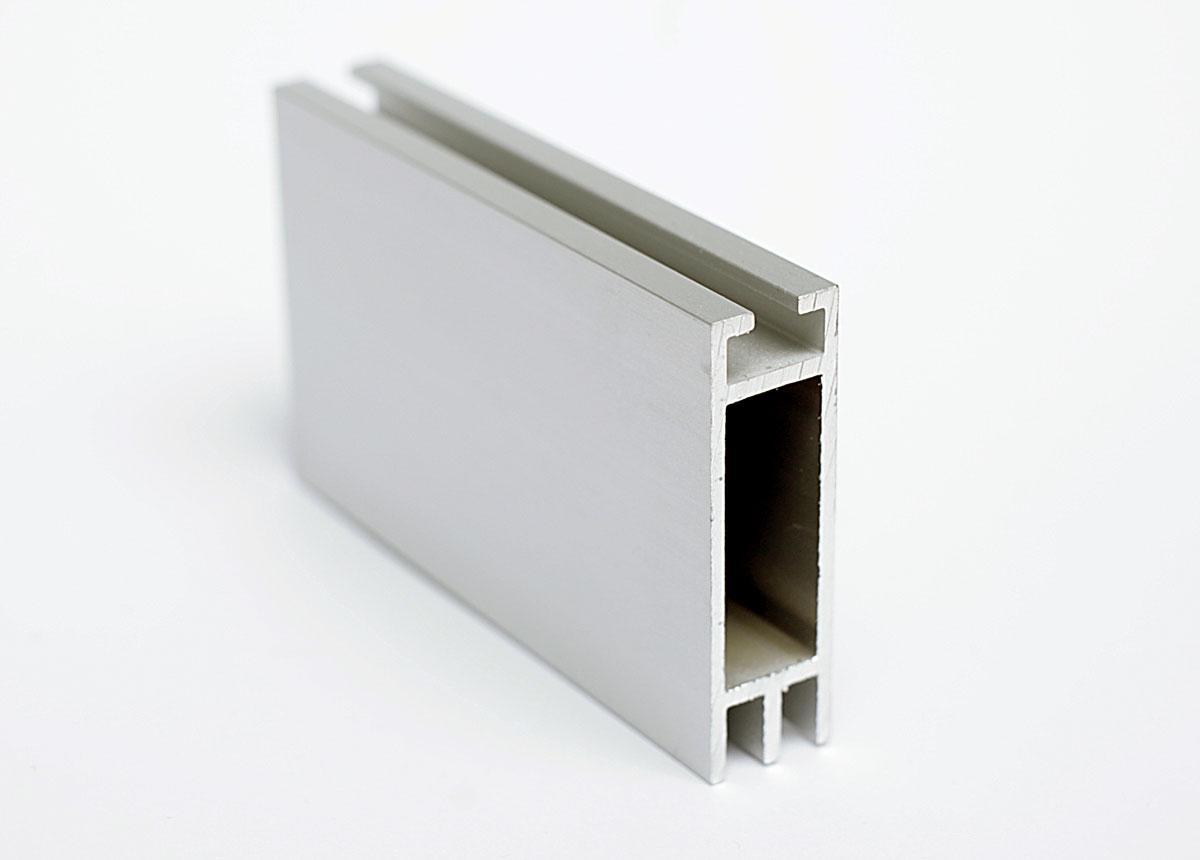 Flachkederprofil Alu doppelt 12x41mm-