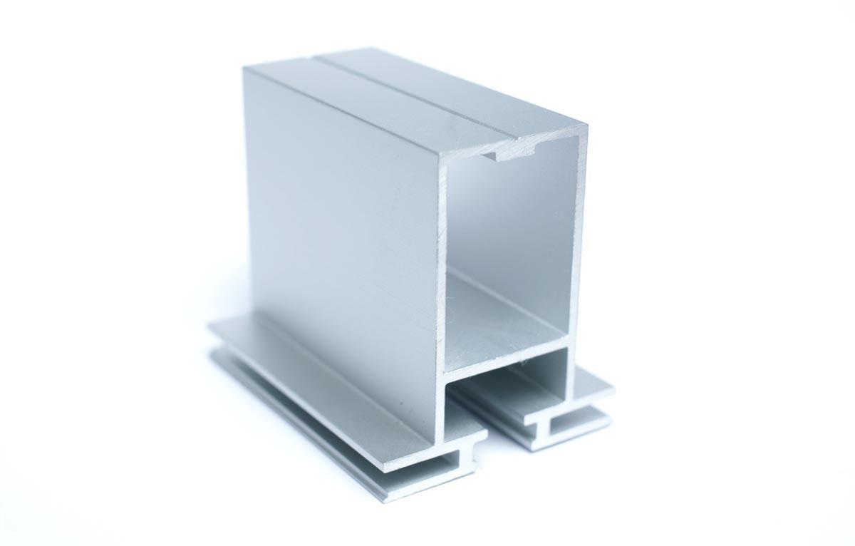 Flachkederprofil Aluminium 53x60 doppelseitig für Spannrahmen-