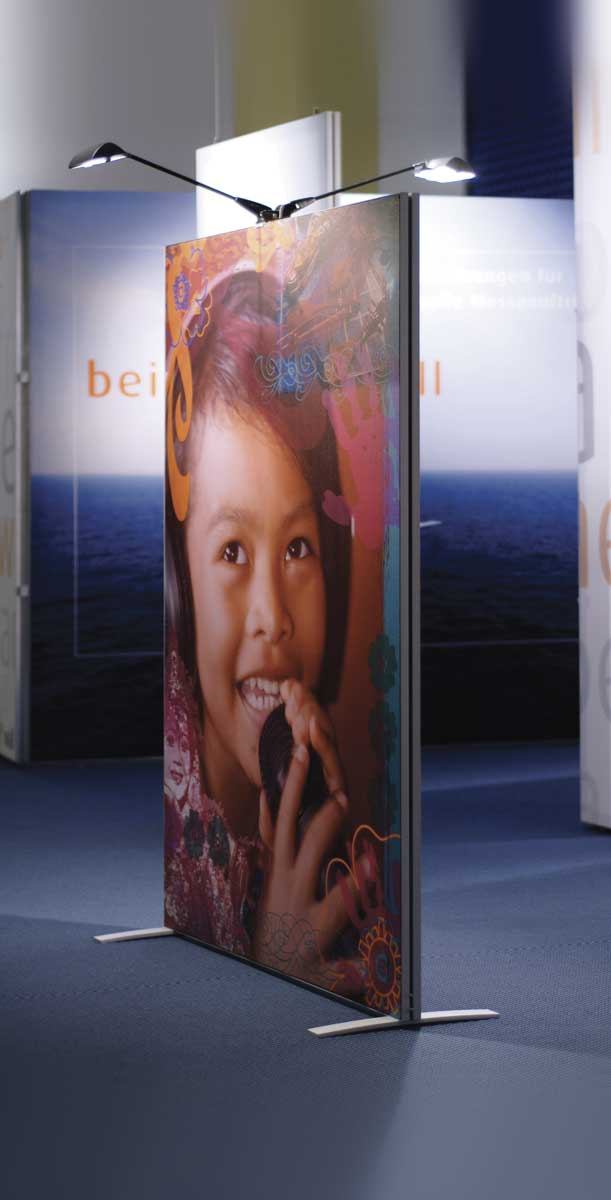 Spannrahmen Stellwand 1x2,2m 50mm doppelseitiges Aluprofil inkl ...